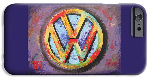 Circuit Mixed Media iPhone Cases - VOLKSWAGEN - Das Auto iPhone Case by Dan Haraga