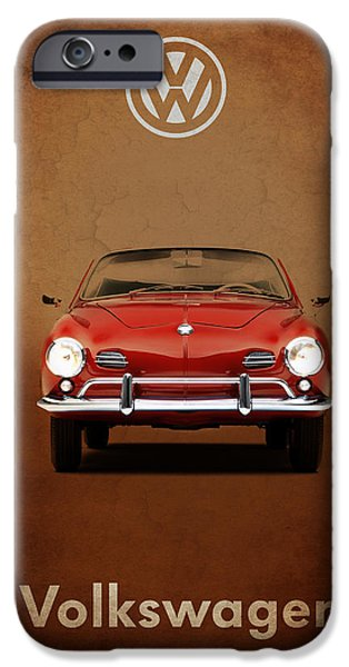 Volkswagen iPhone Cases - Volkswagen Karmann Ghia iPhone Case by Mark Rogan