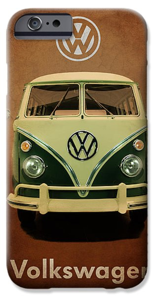 Bus Photographs iPhone Cases - Volkswagen T1 1963 iPhone Case by Mark Rogan