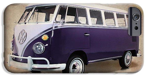 Volkswagen iPhone Cases - Volkswagen T1 Bus iPhone Case by Mark Rogan
