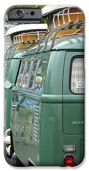 Volkswagen iPhone Cases - Volkswagen VW Bus iPhone Case by Jill Reger