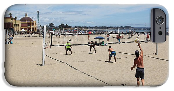 Santa Cruz Ca iPhone Cases - Volleyball At The Santa Cruz Beach Boardwalk California 5D23837 iPhone Case by Wingsdomain Art and Photography