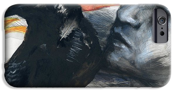 Symbology iPhone Cases - Voodoo Awaits iPhone Case by Rene Capone