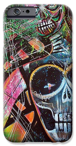 Mardi Gras Paintings iPhone Cases - VOODOO Queen iPhone Case by Laura Barbosa