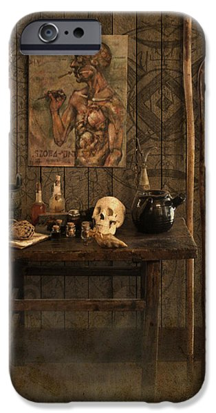 Vodou iPhone Cases - Voodoo Shack iPhone Case by Bill Jonas