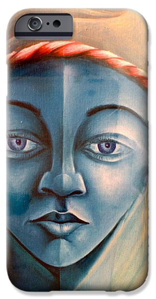 Casting A Spell iPhone Cases - Voodoo vision. iPhone Case by Haitian artist