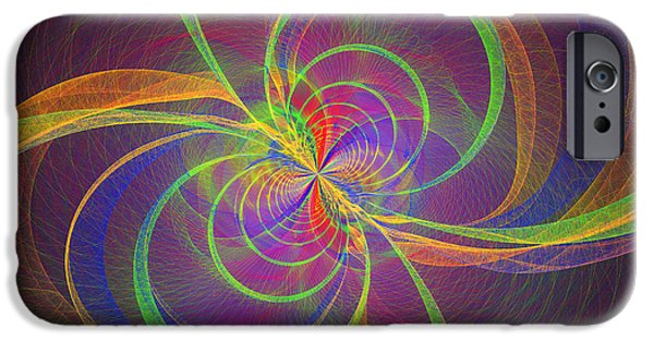 """digital Abstract"" iPhone Cases - Vortex Abstract Digital Fractal Flame Art iPhone Case by Keith Webber Jr"