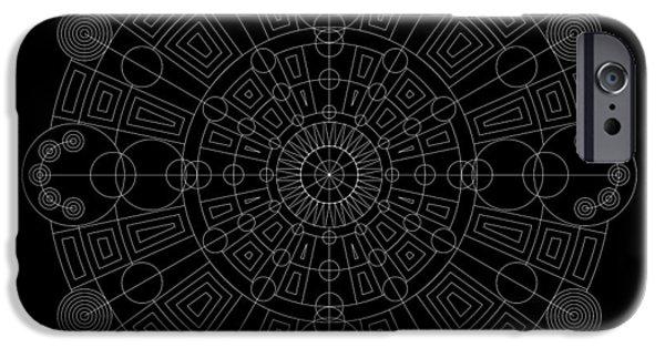 Hieroglyph iPhone Cases - Vortex Inverse iPhone Case by DB Artist