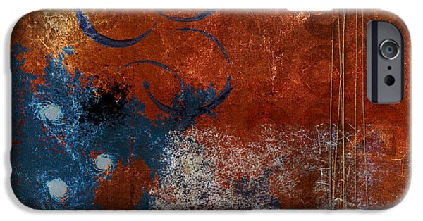 Rust iPhone Cases - Vortices iPhone Case by Carol Leigh