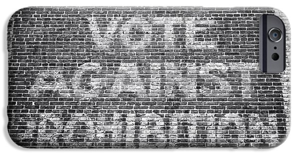 Contemporary Fine Art iPhone Cases - Vote Against Prohibition I iPhone Case by John Rizzuto