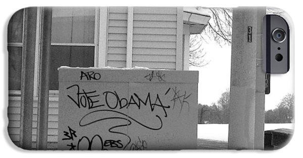 Obama Photographs iPhone Cases - Vote Obama iPhone Case by Rhonda Barrett