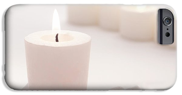 Pinkish iPhone Cases - Votive Candle iPhone Case by Olivier Le Queinec