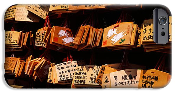 Tablet iPhone Cases - Votive Tablets In A Temple, Tsurugaoka iPhone Case by Panoramic Images