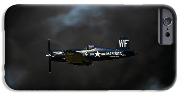 Flight iPhone Cases - Vought F4U Corsair iPhone Case by Adam Romanowicz