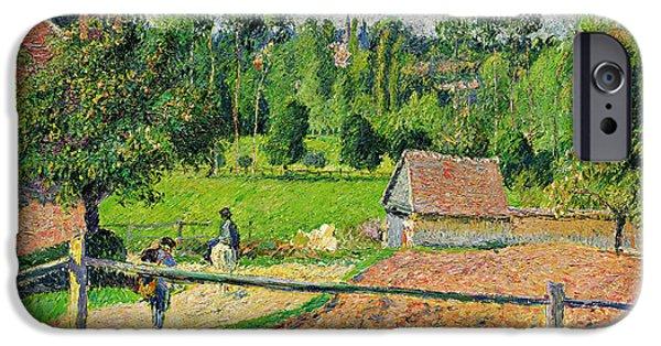 Pissarro iPhone Cases - Vue de la fenetre de lartiste iPhone Case by Celestial Images