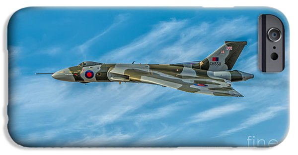 Union Digital Art iPhone Cases - Vulcan Bomber iPhone Case by Adrian Evans