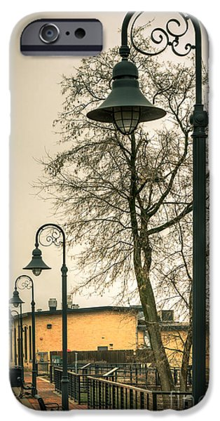 Appleton Photographs iPhone Cases - Vulcan Park Streetlamps iPhone Case by Shutter Happens Photography