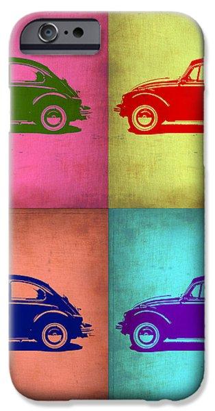 VW Beetle Pop Art 1 iPhone Case by Naxart Studio