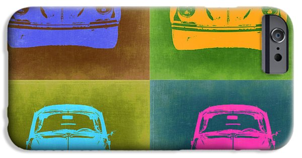 Concept Digital Art iPhone Cases - VW Beetle Pop Art 6 iPhone Case by Naxart Studio