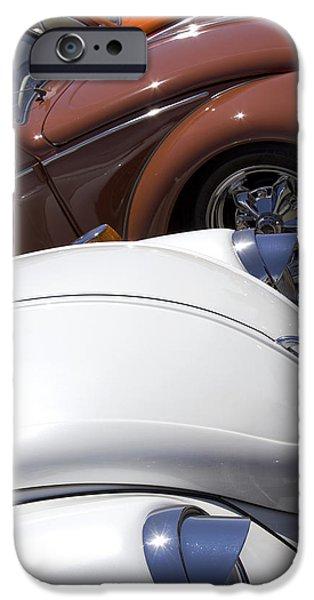 Snake iPhone Cases - VW Beetles in Warm Tones iPhone Case by Studio Janney