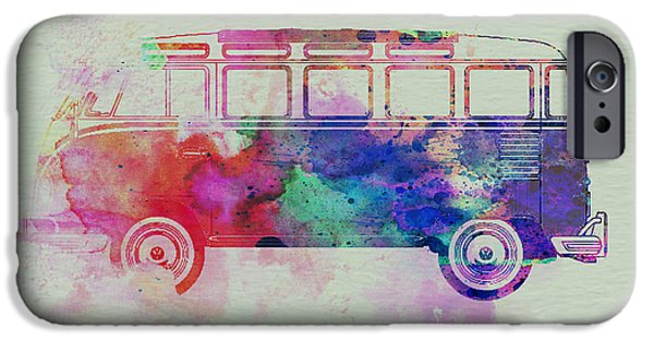 Competition iPhone Cases - VW Bus Watercolor iPhone Case by Naxart Studio