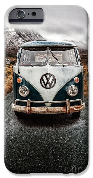 Cold iPhone Cases - VW Camper Glen Etive iPhone Case by John Farnan