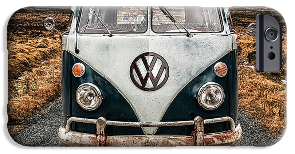 Cold iPhone Cases - VW in Glen Etive iPhone Case by John Farnan