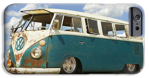 1960s iPhone Cases - VW Lowrider Bus iPhone Case by Mike McGlothlen