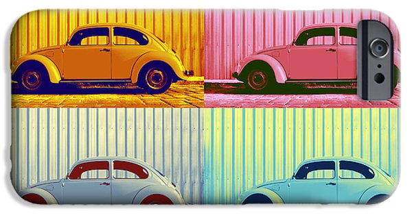 Metallic Sheets iPhone Cases - VW Pop Autumn iPhone Case by Laura  Fasulo