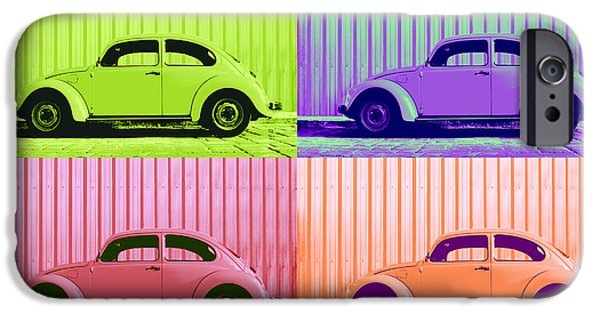 Metallic Sheets iPhone Cases - VW Pop Spring iPhone Case by Laura  Fasulo