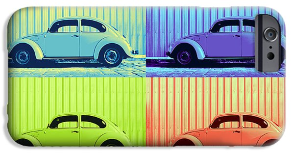 Metallic Sheets iPhone Cases - VW Pop Summer iPhone Case by Laura  Fasulo