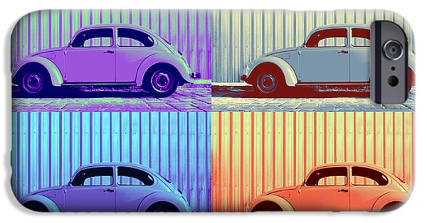 Metallic Sheets iPhone Cases - VW Pop Winter iPhone Case by Laura  Fasulo