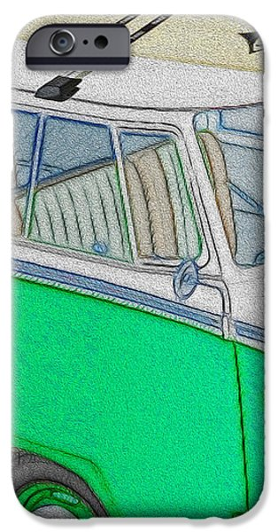 Vw Surf Bus iPhone Case by Cheryl Young