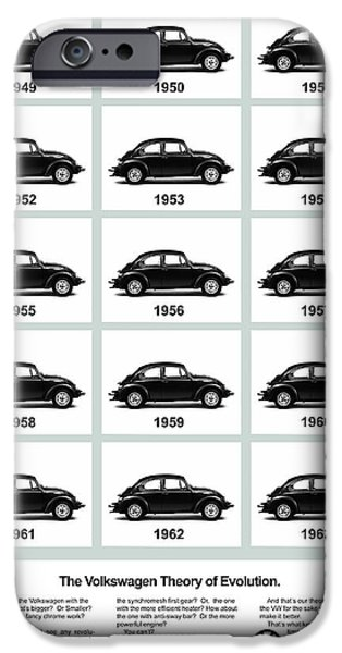Volkswagen iPhone Cases - VW Theory of Evolution iPhone Case by Mark Rogan