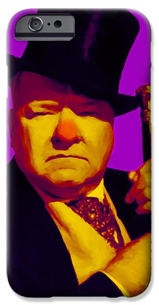 W C Fields 20130217m30 iPhone Case by Wingsdomain Art and Photography