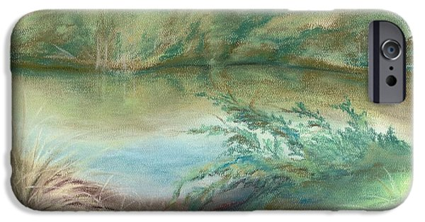 Creek Pastels iPhone Cases - Waccamaw Dreams iPhone Case by MM Anderson