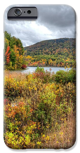Central Massachusetts iPhone Cases - Wachusett Mt. in Autumn iPhone Case by Donna Doherty