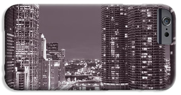 Finance iPhone Cases - Wacker Drive, River, Chicago, Illinois iPhone Case by Panoramic Images