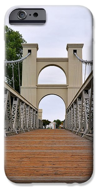 Remnant iPhone Cases - Waco Suspension Bridge iPhone Case by Christine Till