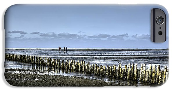 North Sea iPhone Cases - Wadden sea from the island Mando Denmark iPhone Case by Frank Bach