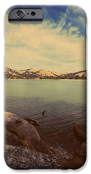 Rocky Digital Art iPhone Cases - Wading into the Cold Water iPhone Case by Laurie Search