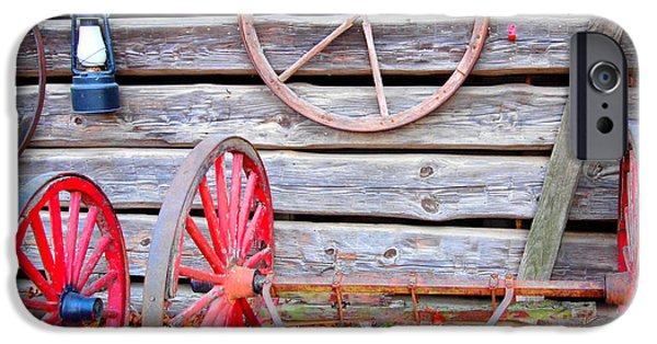 Rucker iPhone Cases - Wagon Wheel iPhone Case by Dan Sproul
