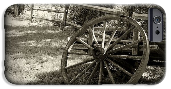 Interior Scene iPhone Cases - Wagon Wheel  iPhone Case by Paul Ward