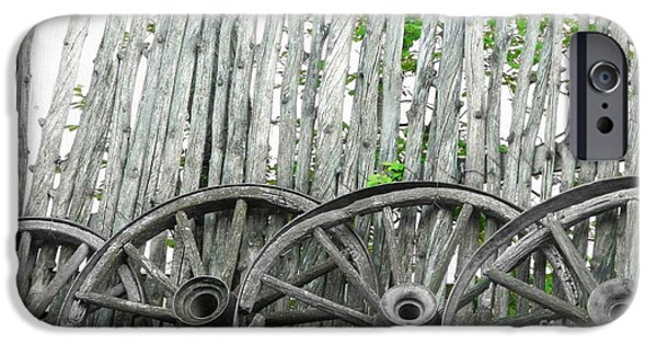 The Horse iPhone Cases - Wagon Wheels iPhone Case by Michelle Frizzell-Thompson
