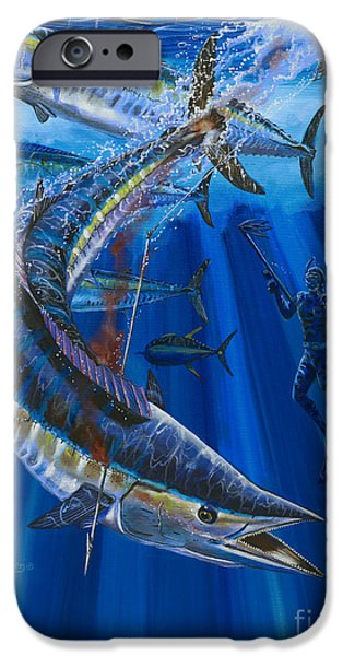Wahoo spear iPhone Case by Carey Chen