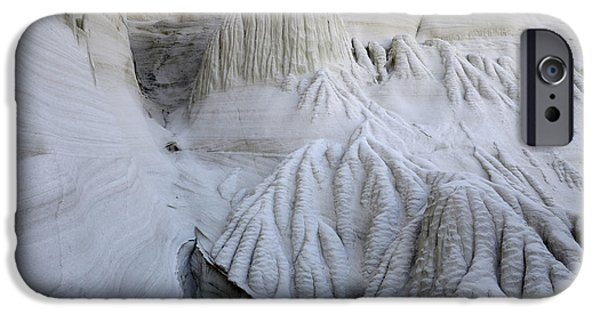 Wahweap iPhone Cases - Wahweap Hoodoos Detail 2 iPhone Case by Bob Christopher