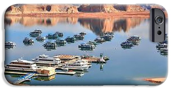 Wahweap iPhone Cases - Wahweap Marina Panoramic iPhone Case by Adam Jewell