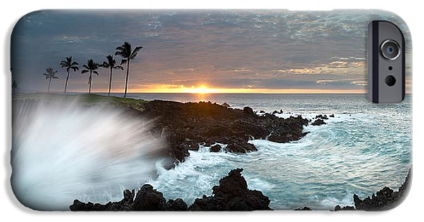 Sunset Framed Prints iPhone Cases - Waikaola Mana iPhone Case by Sean Davey