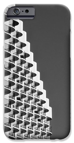 Waikiki hotel with a wave iPhone Case by Tin Lung Chao