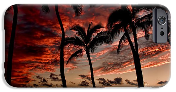 Interface iPhone Cases - Waikiki Sunset iPhone Case by David Smith